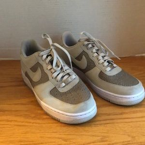 Nike Air Force One AF1 Ash Gray Sneakers Size 8.5